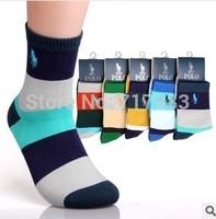 2014 New Arrival fashion high quality men's wide stripe socks men casual cotton socks brand socks 10pcs=5pairs/lot