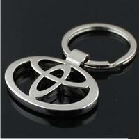 high quality new 2014 Toyota car logo keychain novelty items promoitonal trinket gadget free shipping