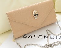 2014 japanned leather shiny women's handbag day clutch shoulder bag messenger bag wallet multi-purpose bag