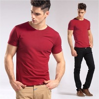 2014 man's designer brand new short-sleeve t shirts sports fashion  cotton casual T-shirt Men big size M-4XL Free shipping HH012