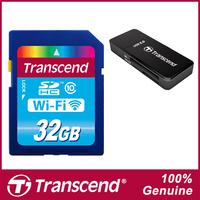 Brand Transcend WiFi SD Card 32GB Class 10 Memory Card Flash Card & Card Reader For Canon Nikon Casio FujiFilm Olympus Cameras