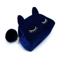 2014 Spring Women black cat face Wallets clutch handbag Purse Beauty  Make-up Evening Bags KL-034
