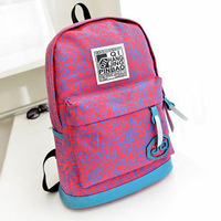 2014 new arrival fashion printing backpack women backpack canvas backpacks school backpacks women travel bags free shipping