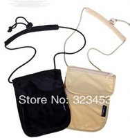 Hanging  Neck Coin Purse Card Holder /Travelling Anti-theft Storage bag New Travel check Leisure Neck Wallet Security package