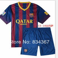 Free shipping 2014 seasons Latest version Barc elona football suits Soccer jerseys players training cloth(customer order)