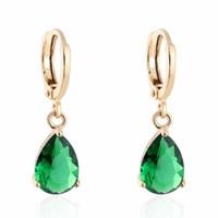 free shipping 2014 new fashion gold plated water drop  earrings for women    yilia jewelry