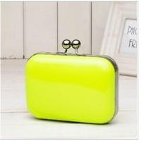 women bags top clutches! New fashion handbag chains evening bag! black orange pink green Fluorescent lemon blue mango bag0732