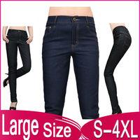 New fashion large size stretch skinny jeans female trousers pencil pants tide Pant 812 L,XL,XXL,XXXL,3XL,XXXXL,4XL free shipping