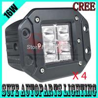 FREE DHL SHIPPING 4PCS CREE LED WORK Spot Flood Light Off Road Fog Driving Headlight 4WD Truck Car ATV 4X4 12V 24V Fog Lights
