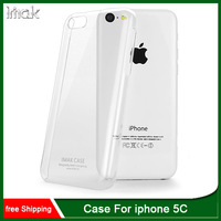 Free shipping,IMAK Crystal Clear Transparent Hard Case for iphone 5C Back Skin Cover Mobile Phone Bags Cases
