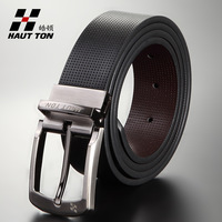 Free Shipping New 2014 Belts for en Casual Leather Belt Men's Brand Belt Black Strap on hot sale