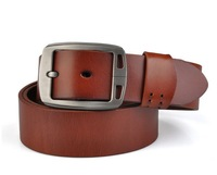 High Quality New Mens Genuine Real Leather Cowhide fashion Belt for men Alloy Buckle 4 colors Free Shipping