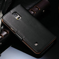 DHL Wallet Stand Design Genuine Leather Case for Samsung Galaxy S5 I9600 Phone Bag Flip Cover Durable 100 Pcs/lot
