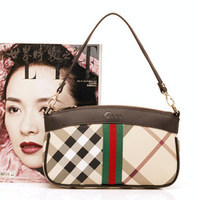 Genuine leather women messenger bags small plaid chain bag women leather handbag coin purse clutch bag shoulder bag