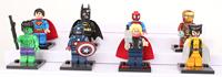 Super Hero Figures Toys 8pcs/lot The Avengers Toys & Hobbies Classic Toys Action Figures DIY Building Blocks Bricks Minifigures