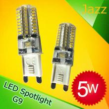 led g9 bulb  5W   64 pcs smd 3014 220V warm white cool white 10pcs/lot free shipping led bulb 400lumens high bright retailors(China (Mainland))