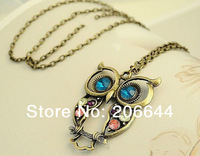 Top Selling fashion Vintage Owl Necklace For Women Chain Necklace