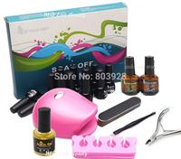 Pro Mild East 12 Colors Nail Art Soak Off Gel Polish Set Glitter Decoration Tips LED Lamp Tool