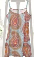 Plus size clothing 2014 summer shirt female spaghetti strap basic one-piece dress nightgown