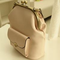 Hot Casual 2015 Classic clip portable shoulder messenger bag retro pouch women leather handbag cross body bag
