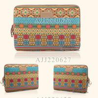 10PCS Wholesale 10 10.1 11 11.6 12 13 13.3 14 15 15.6 17 inch pop bohemia laptop handle bag computer sleeve case bag lady women