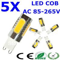 5PCS Free shipping G9 AC110V-240V 10W LED Energy Saving Lamp COB Bulbs Light Crystal Light