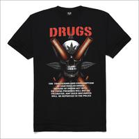 Skull metal series male short-sleeve o-neck t-shirt rock 3dt male t-shirt skull