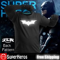 Batman NEW 2014 fashion mens brand cotton novelty luminous tee t-shirts male short sleeve man casual clothing plus size XXXL