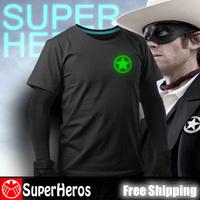 NEW 2014 fashion mens brand cotton luminous tee t-shirts male short sleeve man casual clothing plus size XXXL The Lone Ranger