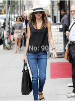 2014 hot sale Kerr love current elliott blue/silver leopard print tight skinny jeans for women work wear jean