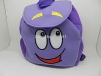 Free Shipping Dora The Explorer Mr Face Plush Backpack Shool Bag Purple Toddler Bag Wholesale Best Gift