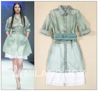 2015 runway dress women's High quality  dresses brand dresses
