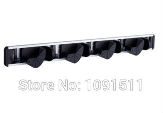 Space aluminum bathroom meierda magic multifunctional mop frame besmirchers rack hook storage(China (Mainland))