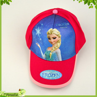 New 2014 Frozen Elsa Princess Girl Cap Adjustable Summer Snapback Sun Hat for Kids Girls Baseball Caps Children Accessories
