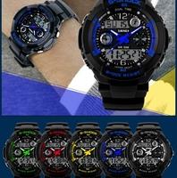 Free Shipping Fashion Brand Men Sports Watches Dual Time Qartz Watches Watch Mlitary Wristwatches