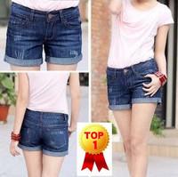 2014 summer new brand arrival Womens vintage plus size feminino denim hot pants female mid waist shorts jeans for ladies KR310