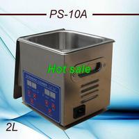 Globe 110V/220V PS-10A  80W Digital Ultrasonic Cleaner 2L Cleaning machine Jewellery Clean  free basket