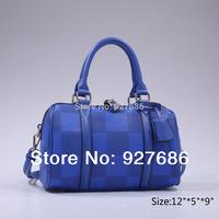 3 Colors In Stock Elegant Bags New Brand Women Plaid Faux Leather Handbag Shoulder Bags Free Shipping BG71388(FBA)