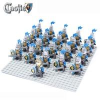 21pcs/lot Lion Knight A figure compatible Building Block doll,Castle Knights Brick accessory Sluban  figures