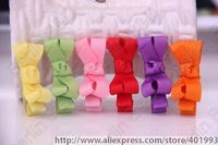 Free shipping  wholesale 600pcs/lot,50colors Baby Grosgrain Ribbon Bows for baby girls,Adorable Tiny baby Clip, Infant Hair bows