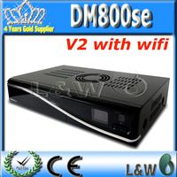 5pcs/lot Newest Tv Decoder dm800se V2 dm800hd se V2 wifi Digital Linux satellite receiver Rev D11 , Sim 2.20 free shipping