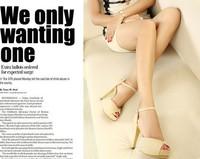 2014 platform pump wedgesFashion sexy high-heeled shoes thin heels round toe platform shoes colorant match women's X0013