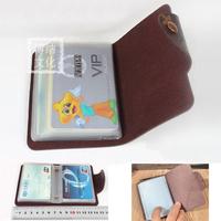Fashion women men PU leather famous designer business Card holder bag case wallet free shipping