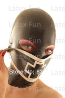 Rubber Nurse Hood Patchwork Mask Button Gummi Hat