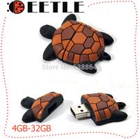 2014 newest usb flash pen drive cartoon usb 4gb to 32gb memory card turtle memory flash card usb 2.0 u disk