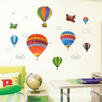 Wall stickers colorful heat  three generations of balloon wall decoration flat wall stickers xy