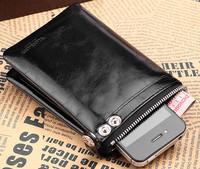 New arrive men wallet short design genuine leather wallet vertical men's bag first layer of cowhide wallet