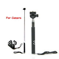 DHL 100sets (100pcs monopod +100pcs clip holder)Selfie Rotary Extendable Handheld Camera Tripod Mobile phone Monopod