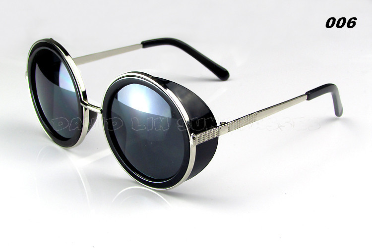 10pcs/lot Steampunk Round Sunglasses Designer Fashion steam punk Metal Oculos women Glasse