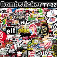 Derocrative Stickerbomb Sticker Bomb Sheet Vinyl Film Graffiti Design Size: 1.5 x 30 Meter